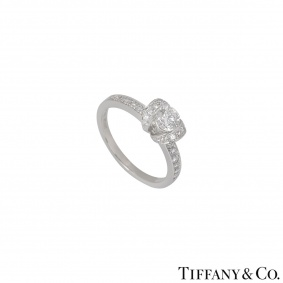 Tiffany & Co. Platinum Diamond Ribbon Ring
